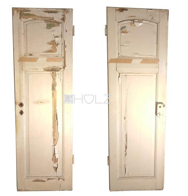 Jugendstil Kammertür alte Tür Toilettentür antik weiß 217 x 64