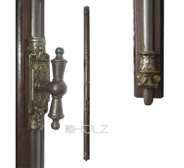 Basküle antik Gründerzeit Gusseisen Stahl Fenster Stangen alt 122cm