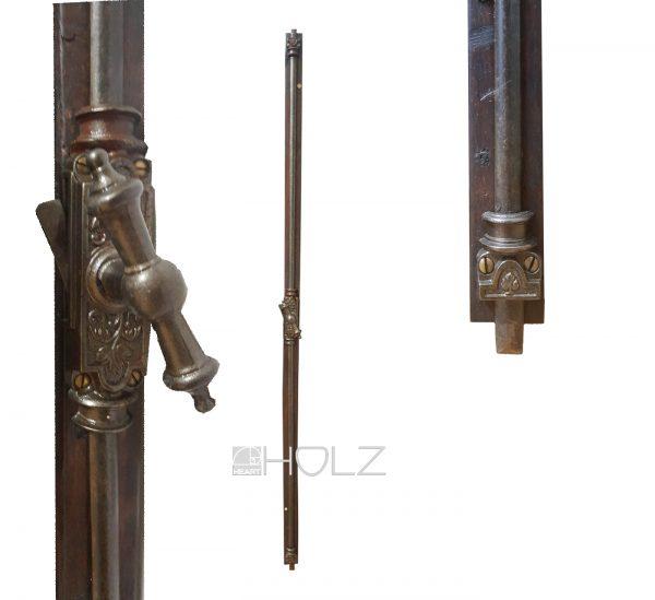 Gründerzeit Fenster Basküle antik Stangenverschluss Riegel alt 123cm