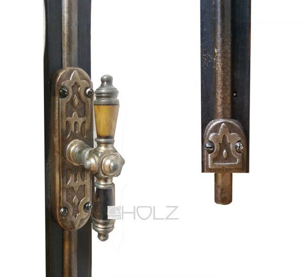 Gründerzeit Basküle antik Fensterriegel Stangen Verschluss alt 120cm