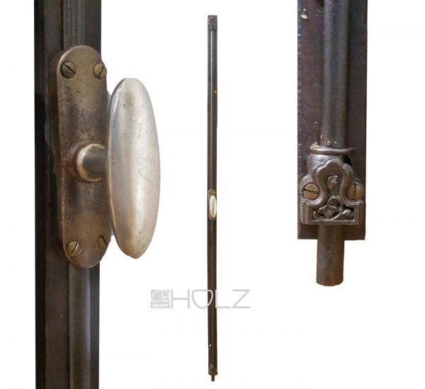 Basküle antik 1920er Fensterriegel Stangen Verschluss alt 139cm