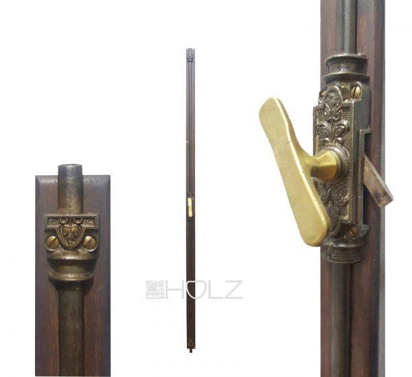 Basküle antik Jugendstil alt Olive mit Einreiber links 140cm