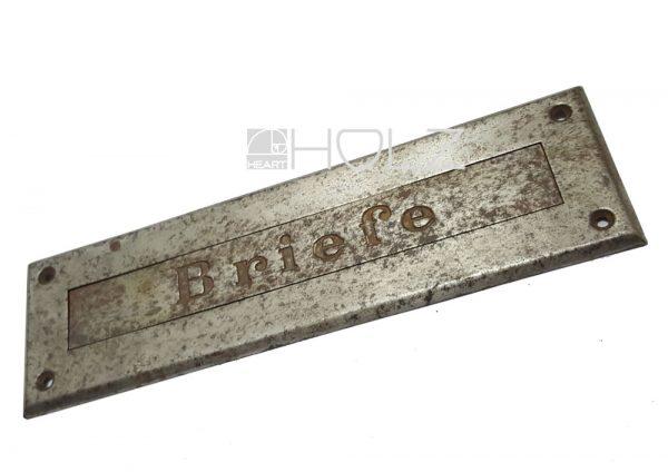 Briefklappe antik Briefschlitz alt Briefeinwurf 1920er