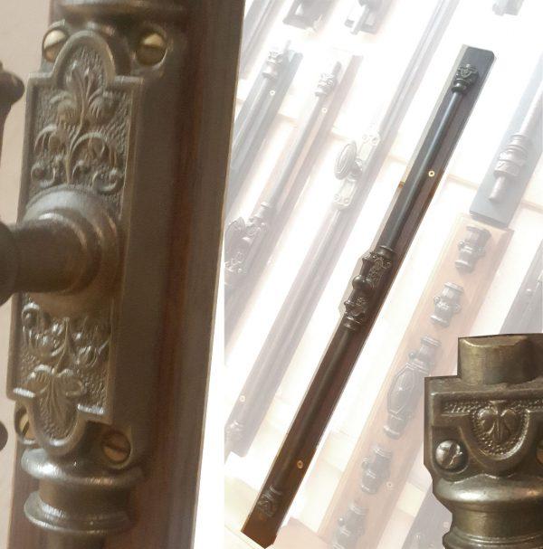 Basküle Gestänge antik Fenster alt Jugendstil 72cm