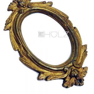 Bronze Möbelbeschlag antik feuervergoldet Medaillon 10cm