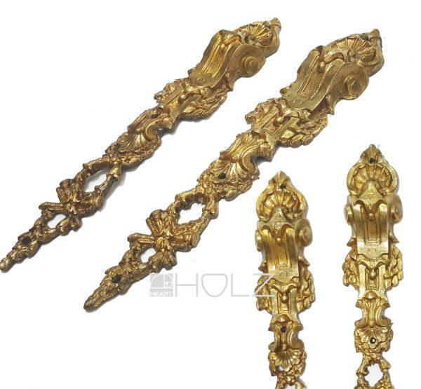 Möbelbeschläge antik Barock Bronze feuervergoldet 23cm