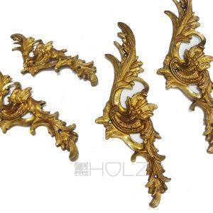 Bronze Möbelbeschläge antik feuervergoldet Barock 22cm