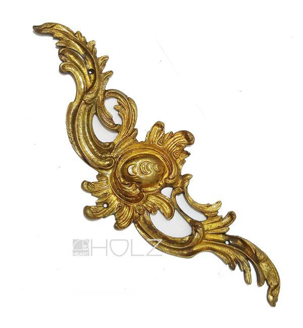 Bronze Möbelbeschlag antik feuervergoldet Barock 26cm