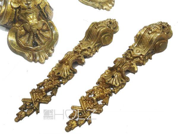 Möbelbeschläge antik Barock Bronze feuervergoldet 26cm
