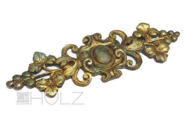 Bronze Möbelbeschlag antik feuervergoldet alt 110mm