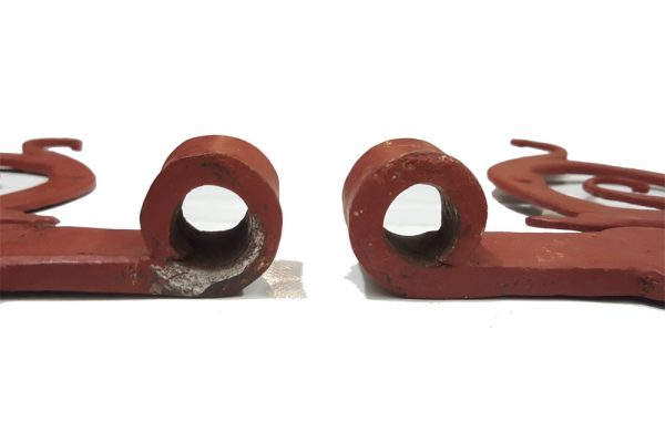 S-Bänder antik alt geschmiedet Türbänder 16er Dorn 899