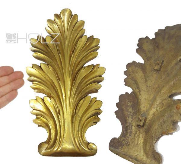 Palmette Bronze feuervergoldet antik Möbelbeschlag
