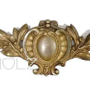 Bronze Beschlag feuervergoldet Lorbeer Möbel 140mm