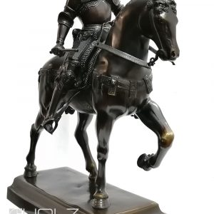 Bronze Verrochio Reiter Standbild Bertolomeo Colleoni 40cm