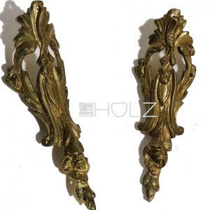 Bronze Beschlag antik feuervergoldet Möbel alt 110mm