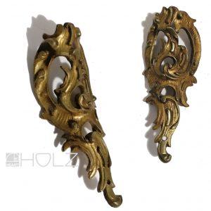 Bronze Beschlag antik feuervergoldet Möbel alt 90mm