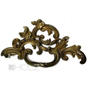Bronze Beschlag antik Schubladengriff feuervergoldet Möbel alt 12 cm