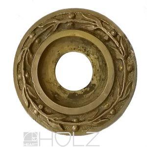 Drückerrosette Knaufrosette antik Lorbeer feuervergoldet 22.6 mm