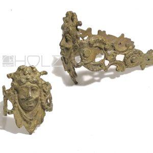 Bronze Beschlag antik Empire feuervergoldet Möbel alt 13 cm